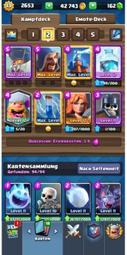 Max lvl Clash royale Account