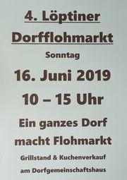 Dorfflohmarkt in Löptin am 16