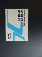 Bedienungsanleitung Kawasaki ZZR 600 E