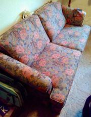 Schlafsofa mit Stuhl