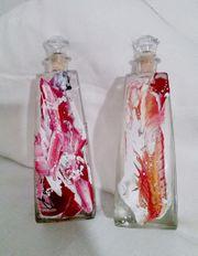 dekorative Glasflaschen leer Schnaps Likör