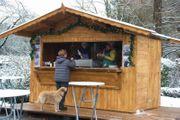 Verkaufsstand Weihnachtsmarkthütte Weihnachtsmarktstand Hütte Erdbeerhütte