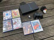 PlayStation 2 Konsole 6 Spiele