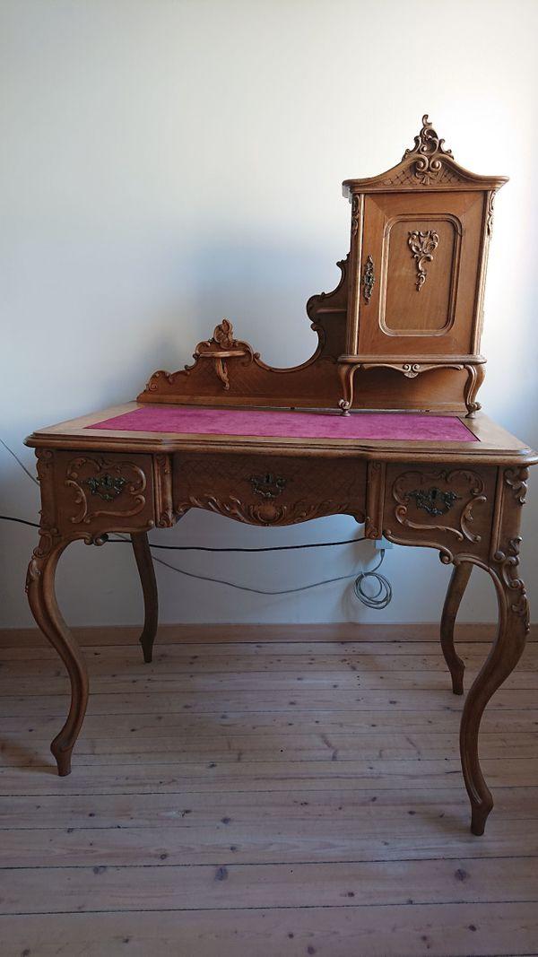 Barock-Schreibtisch mit Aufsatz