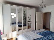 Kleiderschrank mit Frontspiegeln Massivholz Esche