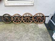 4 alte Wagenräder Wagenrad Holzrad