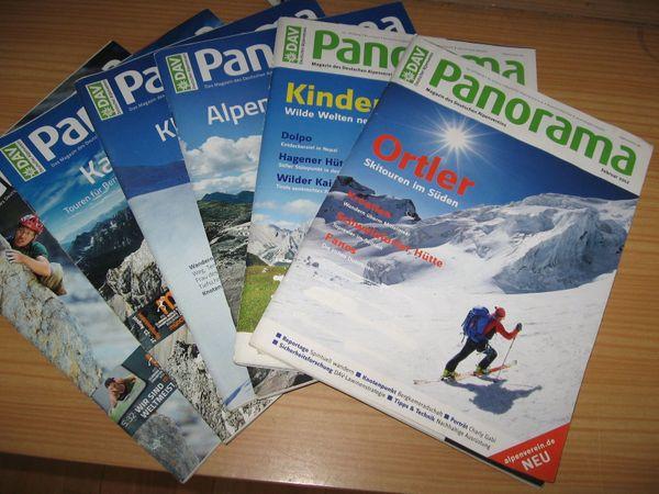 DAV Panorama, Magazin des Deutschen Alpenvereins, gem. Liste