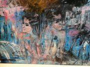 Acrylgemälde Abstrakt Leinwand Unikat 60x80