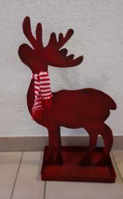 Weihnachtsdeko Elch Rentier