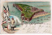 Gruß aus Helgoland Liho-Postkarte
