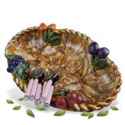 Keramik Obstschüssel Vintage in vitrinengepflegtem