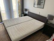 Verkaufe Doppelbett 180x200 dunkelbraun