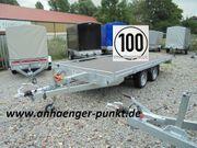 Anhänger Autotransporter 2700 kg Tieffahrwerk