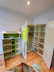 Jugendzimmer Eck-Kleiderschrank
