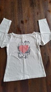 Langarm Shirt für Mädchen Weiß