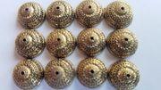 300 Perlenkappen Antik goldfarben Spacer