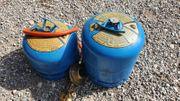 2 Camping gaz Gasflaschen mit