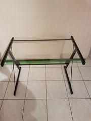 Schreibtisch aus Glas Glastisch schwarze