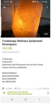 Salzkristall Lampe Wellness Rosenquarz