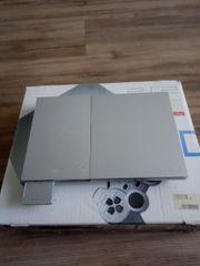 Sony PS 2 Silber Slim