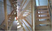 Stabile Bautreppe aus Holz zu