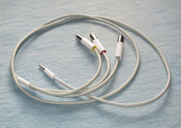 Apple Composite Cable Audio- Videoteil