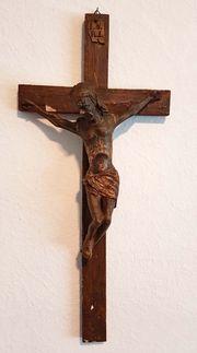 Antik Kreuz Kruzifix Jesus Christus