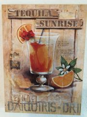 4 Cocktail Gemälde Deko Bilder