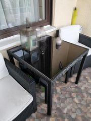 2 Polyrattan Lounge Sessel und