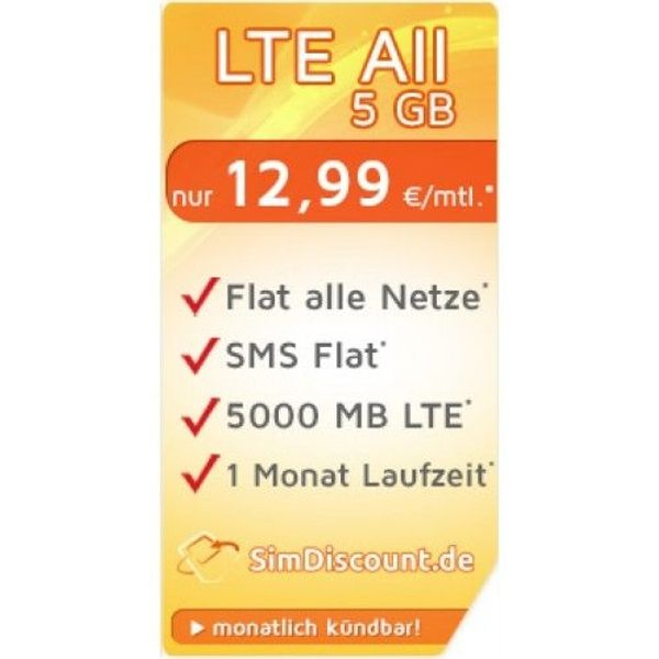 SimDiscount LTE All 5 GB