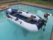 Schlauchboot mit 50ccm Benzinmotor