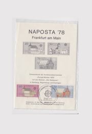 Naposta 78 - Europamarken gestempelt Schwarzdruck