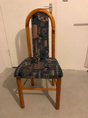 Überzogene Esszimmerstühle aus Kiefer