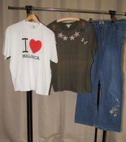 Damen Jeans mit 2x T-shirts
