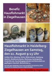 Benefiz-Hausflohmarkt Garage Sale in Heidelberg-Ziegelhausen