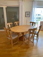 Esstisch-ausziehbar mit 6 Stühlen