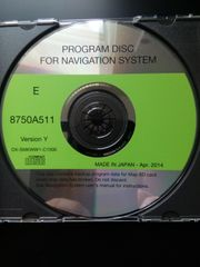 Original Program Disc for Navigation