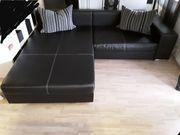 Sofa mit Schlaffunktion - Kunstleder Optik