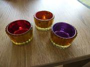 9 versch Teelichtbehälter