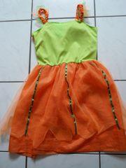 Halloweenkleid 2-teilig Gr 140 Kürbiskostüm