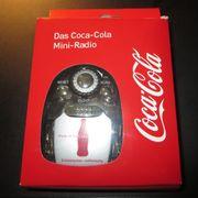 neues Coca-Cola Mini-Radio mit Kopfhörer