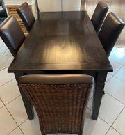 Esszimmer-Tisch mit 1 Schublade in