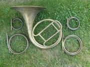 Historisches Inventionshorn mit 4 Bögen