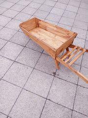 Schubkarre Holz Deko zum bepflanzen