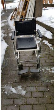 Toiletten-Rollstuhl stabile Ausführung