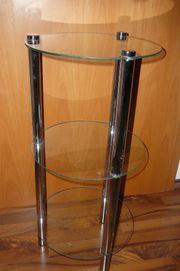 Elegantes Glasregal rund Regal Glas