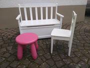Sitzbank Truhe Stuhl und Hocker