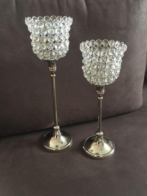 wunderschöne Glaslichter und Tablett