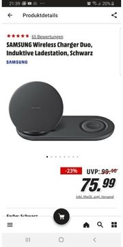 SAMSUNG Wireless Charger Duo Induktive