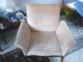 Polster, Sessel, Couch - Sitzgruppe Wildleder